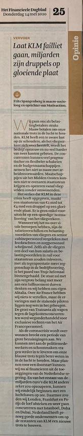 Laat KLM  failliet gaan